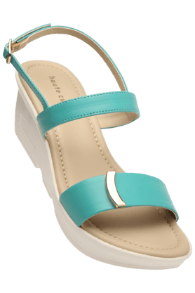 HAUTE CURRY Womens Casual Ankle Buckle Closure Wedge Sandal (Use Code FB20 To Get 20% Off On Purchase Of Rs.1800) - 200834964