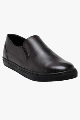 HATS OFF ACCESSORIES Mens Leather Slip On Loafers