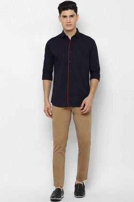 ALLEN SOLLY - Navy Casual Shirts - 3