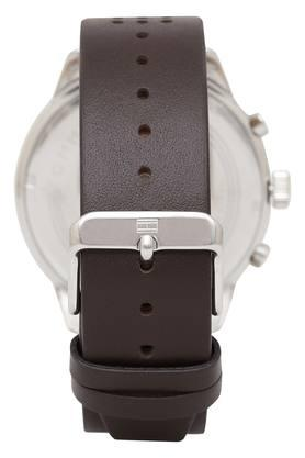 Mens Grey Dial Leather Multi-Function Watch - TH1791579