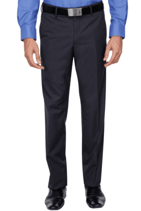 VAN HEUSEN Mens Slim Fit Solid Formal Trouser