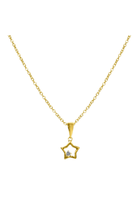SPARKLESHis & Her Collection 18 Kt Pendant In Gold & Real Diamond HHPXP8435
