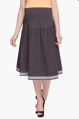 NINE MATERNITYWomens Solid Flared Skirt - 201346589