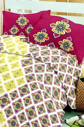 BLISS Multi Colour Double Bedsheet Sets (Bedsheet Set (King) - 202234005