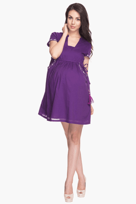 NINE MATERNITY Womens Comfort Fit Solid Dress - 201346604