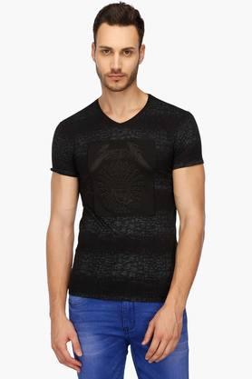 Mens V- Neck Printed T-Shirt