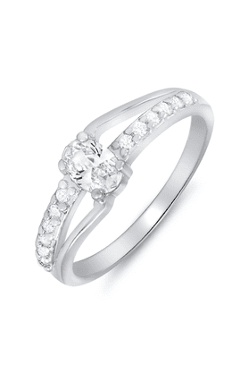 MAHIMahi Rhodium Plated Enigmatic Charm Ring With CZ Stones For Women FR1100085R