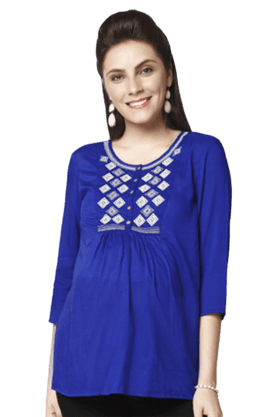 NINE MATERNITY Blouse With Embroidery