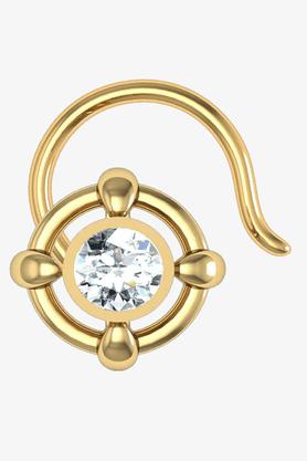 VELVETCASEWomens 18 Karat Yellow Gold Nose Ring (Free Diamond Pendant) - 201065094