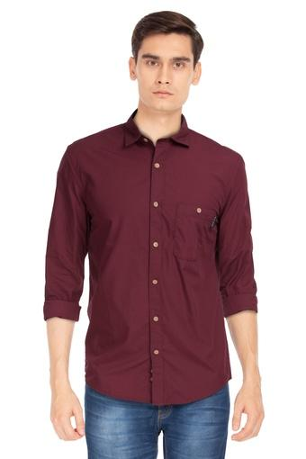 LOUIS PHILIPPE JEANS -  Maroon Shirts - Main