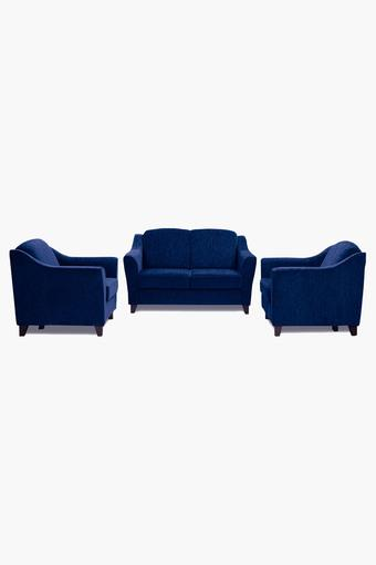 Midnight Blue Fabric Sofa (2-1-1 Sofa Set)