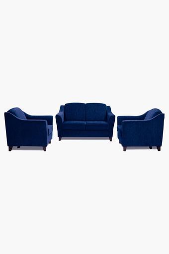 Midnight Blue Fabric Sofa (2-1-1 Sofa Set)