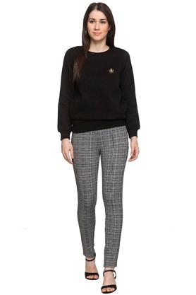 Womens Check Jeggings