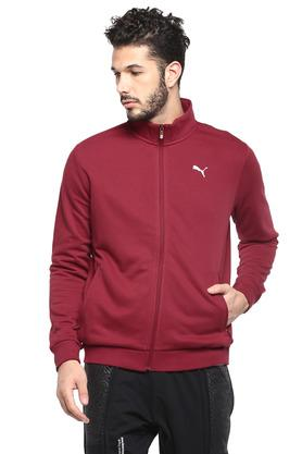 Mens Zip Through Slub Sports Jacket