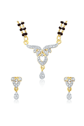 MAHI Mahi Gold Plated Pure Alliance Mangalsutra Set With CZ For Women NL1106006G2