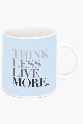 CRUDE AREA Live More Printed Ceramic Coffee Mug  ...