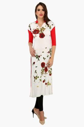 IRA SOLEILWomens Slim Fit Printed Kurta (Buy Any Ira Soleil Product And Get A Necklace Free) - 201787610