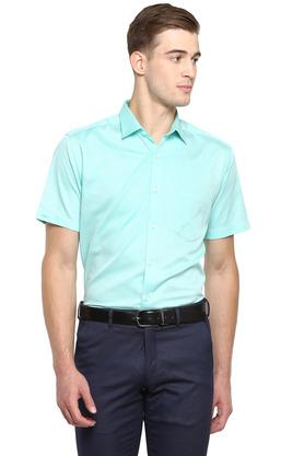 Mens Slim Collar Solid Formal Shirt