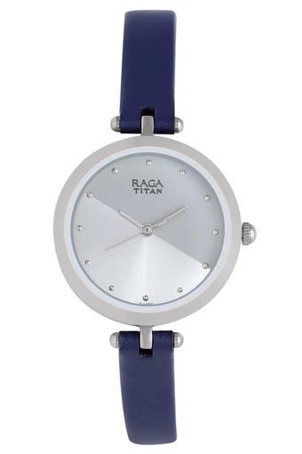 Womens Raga Two Tone Dial Leather Analogue Watch - 2606SL01