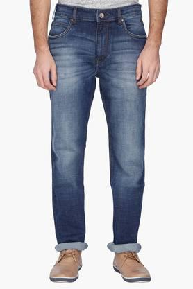 FLYING MACHINEMens Regular Fit Mild Wash Jeans ( Django Fit)