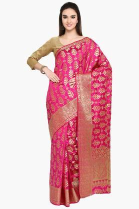 Womens Art Silk Golden Weave Saree With Blouse Piece - 202531326