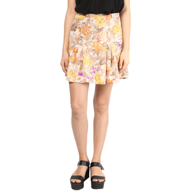 THE VANCAWomens Flared Printed Skirt