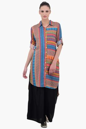 JUNIPER Women Kurta With Shirt Collar