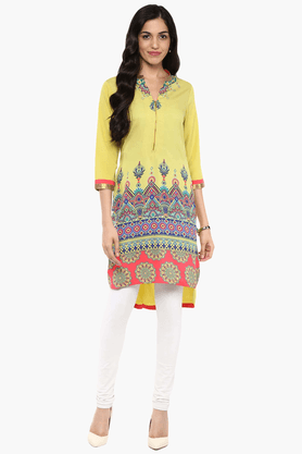 FUSION BEATS Womens Slim Fit Printed Tunic - 201553211