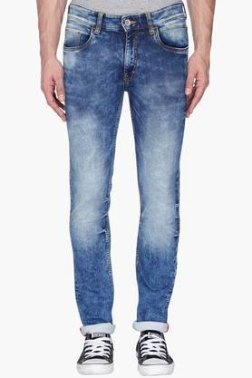 IZOD Mens Slim Fit Stone Wash Jeans