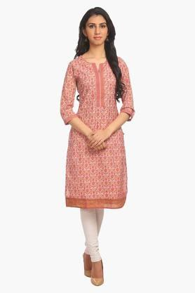 BIBA Women Poly Cotton Straight Kurta