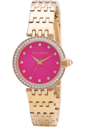 GIORDANO Womens Full Gold Metal Analog Watch- 2752-22