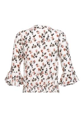 Girls Tie Up Neck Floral Print Top