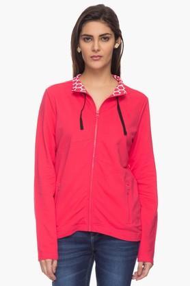 LIFEWomens Zippered High Neck Sweatshirt