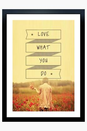 Multi Colour Love What You Do Printed Paper Poster
