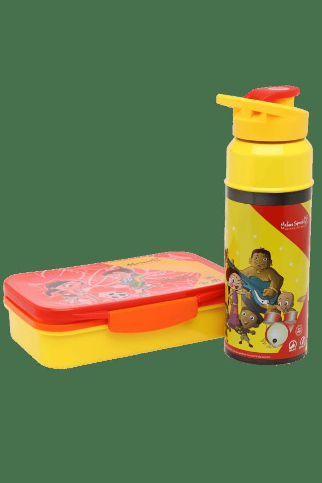 Unisex Chhota Bheem Tiffin Box and Water Bottle Combo Set