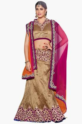 MAHOTSAV Womens Embellished Semi-stitched Lehenga Choli