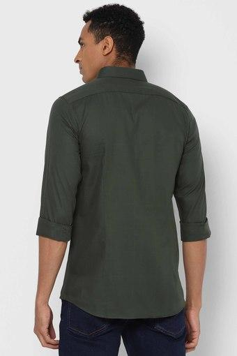 ALLEN SOLLY -  OliveCasual Shirts - Main
