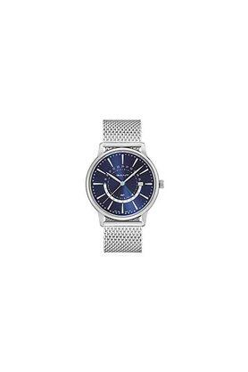 Mens Blue Dial Stainless Steel Analogue Watch - GT026003