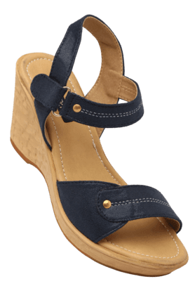 RAW HIDE Womens Daily Wear Velcro Closure Wedge Sandal