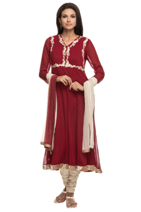 IMARA Women Embellished Churidar Suit - 200355579