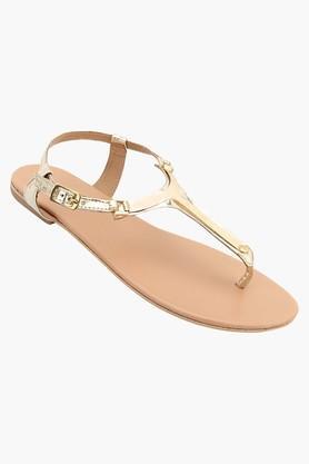 TAO PARISWomens Party Wear Ankle Buckle Closure Flat Sandals - 202340844