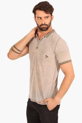 Mens Slim Fit Slub Polo T-Shirt
