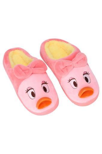 Duck Print Slip On Bath Slippers