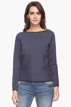 FEMINA FLAUNTWomens Striped Sweater