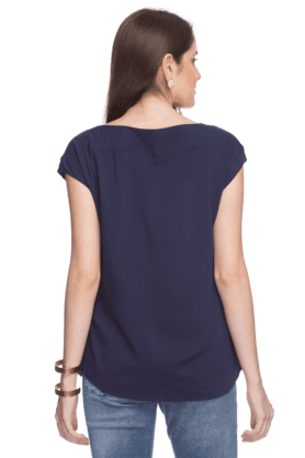 Womens Boat Neck Blouse