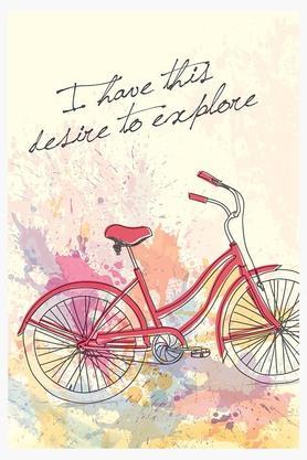 CRUDE AREAMulti Colour Desire To Explore Printed Paper Poster