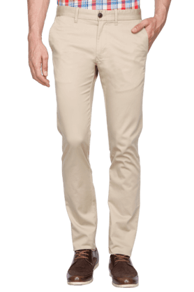 INDIAN TERRAIN Mens Slim Fit Solid Chinos - 200699343