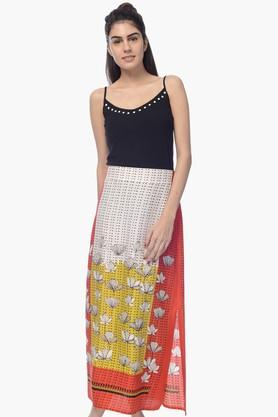 DESI BELLE Womens Printed Slitted Long Skirt - 201828864