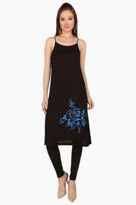 IRA SOLEILWomens A Line Fit Solid Kurta (Buy Any Ira Soleil Product And Get A Charms Bracelet Free) - 201787620