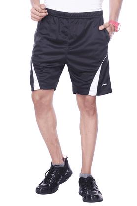 BLACK PANTHERMens Flat Front Regular Fit Solid Shorts - 8894556